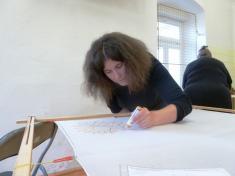 Vyrábění zfima amalování hedvábí 14.4. 2012