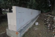 Obnova hřbitovní zdi Řenče 2016