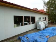 Opláštění hrubé stavby