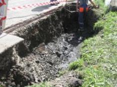 Oprava kanalizace Osek - 2010